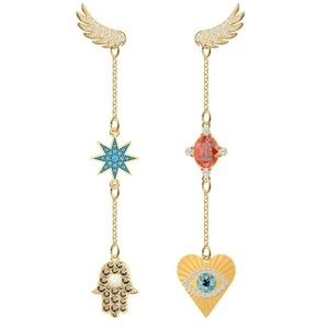 Swarovski lucky goddess pierced earrings